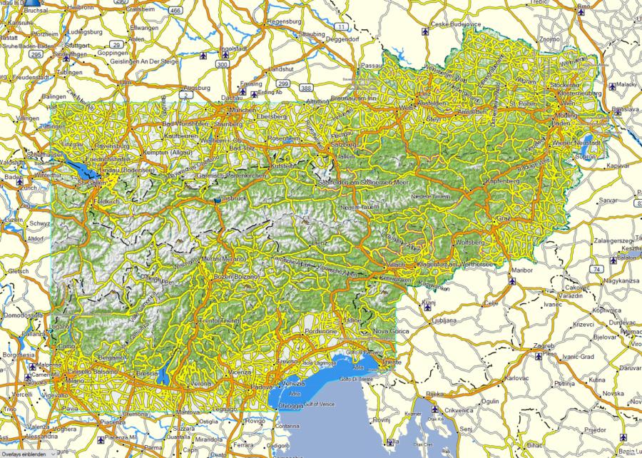GPS für Radfahrer und Wanderer - Garmin Topo TransAlpin+